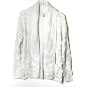 A new day Cable Knit Open White Cardigan